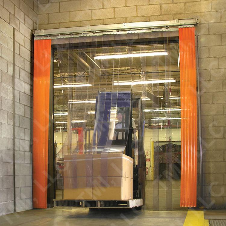 Porte souple à lanières / PVC / pour chambre froide / industrielle ...