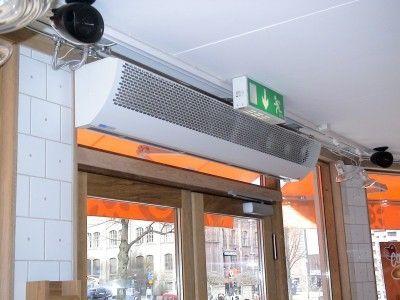 Rideau d\'air chaud / horizontal / pour chambre froide / avec ...