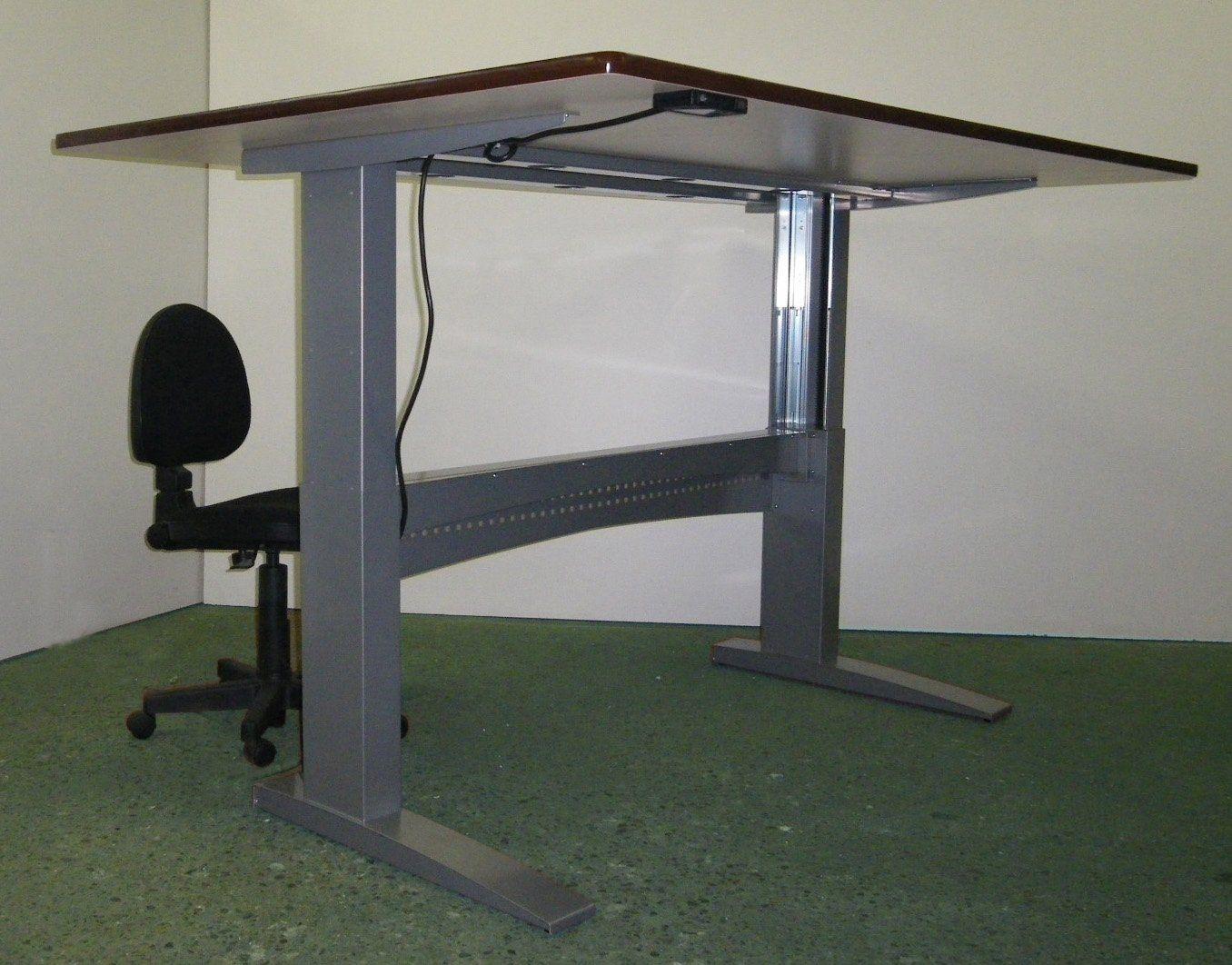 Poste de travail de bureau ergonomique à hauteur réglable