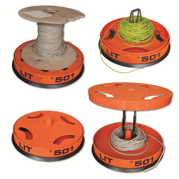 devidoir bobine fil electrique dévidoir de câbles - de fils métalliques - LIT250 u0026 LIT501