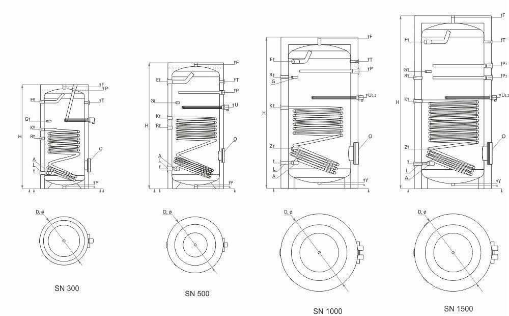 Chauffe-eau solaire   à échangeur de chaleur - 1 500 L   SN series ... 06e32475b217