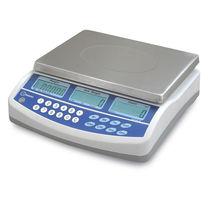 Balance compteuse / avec afficheur LCD / plateau en acier inoxydable / avec batterie