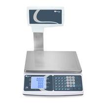 Balance benchtop / avec afficheur LCD / plateau en acier inoxydable / avec batterie
