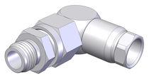 Raccord fileté / d'angle / hydraulique / en acier inoxydable