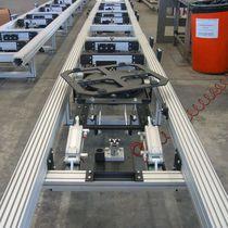 Table tournante entraînée par moteur / horizontale / inclinable / pour convoyeur