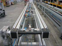 Convoyeur à chaînes / de manutention / de transport / horizontal