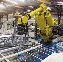 Cellule robotisée de pose / de manutention / pour vitrage