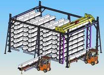 Magasin automatique vertical / pour produits longs / avec pont roulant
