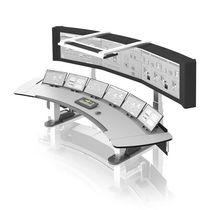 Terminal opérateur avec clavier / sur pied / de contrôle / de visualisation