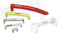 Poignée adaptable / de porte / en aluminium / en inox