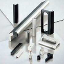 Poignée escamotable / pour panneau avant / en zinc moulé sous pression / en matière plastique