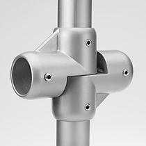 Connecteur de tube en croix / d'acier
