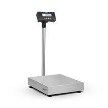 Balance à plate-forme / avec afficheur LCD / plateau en acier inoxydable / avec batterie