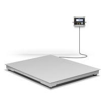 Balance au sol à profil bas / avec indicateur séparé / en acier inoxydable / à quatre capteurs