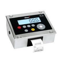 Indicateur de pesage numérique / en acier inoxydable / programmable / avec imprimante intégrée