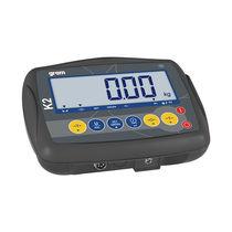 Indicateur de pesage affichage LCD / avec batterie