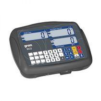 Indicateur de pesage affichage LCD / encastrable / avec batterie