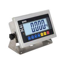 Indicateur de pesage affichage LCD / mural / en acier inoxydable / avec batterie