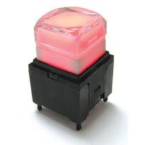 Bouton poussoir unipolaire / lumineux (LED) / électromécanique / standard