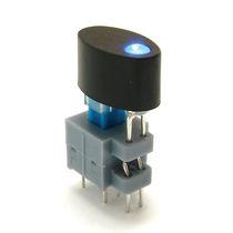 Bouton poussoir unipolaire / lumineux (LED) / on/off / électromécanique