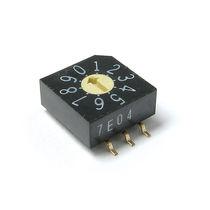Commutateur rotatif / multipolaire / DIP / électromécanique
