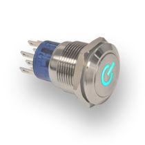 Bouton poussoir on/off / électromécanique / action momentanée / IP67