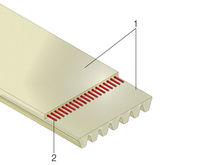 Courroie de transmission striée / en polyuréthane / en polyester / sans fin
