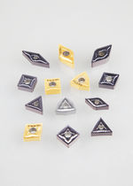 Plaquette de coupe de tournage / pour matériau difficile à usiner / pour matière trempée / pour acier inoxydable