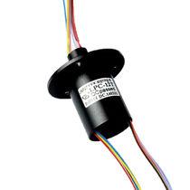 Collecteur tournant électrique / à capsule / pour équipement médical / à 12 fils