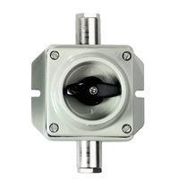 Commutateur rotatif / 2 pôles / on/off / en aluminium