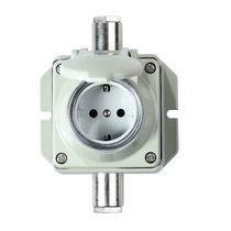 Prise de courant murale / IP54 / de courant AC / en aluminium