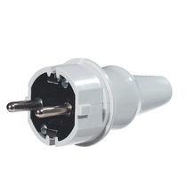 Fiche électrique droite / type schuko / IP44