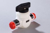 Vanne à boisseau sphérique / manuelle / pour gaz / compacte