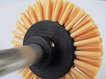Brosse cylindrique / de dépoussiérage / de nettoyage / pour convoyage