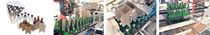Machine d'insertion de croisillon / pour carton