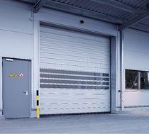 Portes à enroulement / de hangar / industrielles / résistantes au vent
