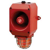 Diffuseur d'alarme sonore à sécurité intrinsèque / avec feu à LED / avec feu de signalisation