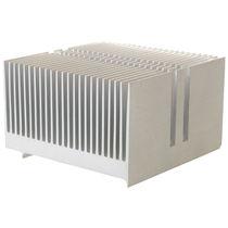 Dissipateur thermique en aluminium / extrudé / de puissance / à ailettes fines