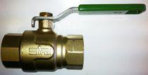 Vanne à boisseau sphérique / à levier / de contrôle / pour eau potable