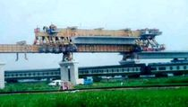 Portique de lancement pour la construction de ponts