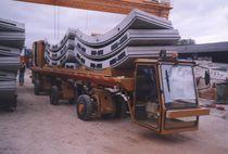 Remorque à 3 essieux / pour matériel industriel / plateau / pour construction de tunnel