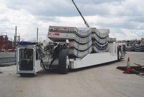 Remorque à 2 essieux / pour matériel industriel / plateau / pour construction de tunnel