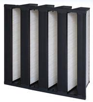Filtre à air / en panneaux / haut rendement / pour applications pharmaceutiques