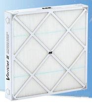 Filtre à air / en panneaux / plissé / haute efficacité