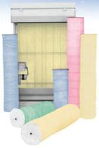 Matériau filtrant en fibre de verre / de poussière / pour filtre à déroulement