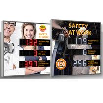 Afficheurs de sécurité / à LED / numériques / à 3 lignes