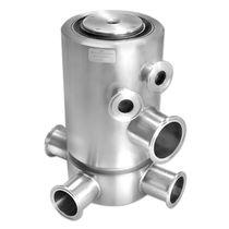 Raccord tournant pour huile / pour gaz / 3 passages / en acier inoxydable