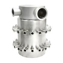 Raccord tournant pour eau / 3 passages / en acier inoxydable