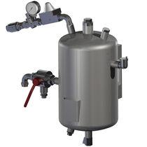Réservoir d'eau / en métal / vertical