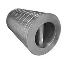 Silencieux aérateur / pour gaine ronde / en aluminium / en acier inoxydable